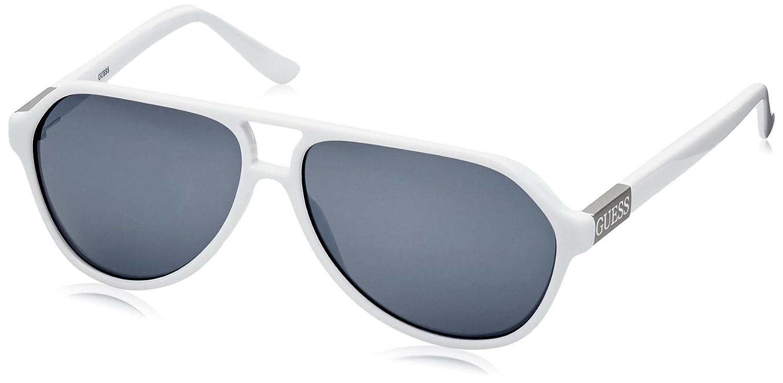 Guess Guf107Wht-3F61 Gafas de Sol, Blanco, 61 para Hombre ...