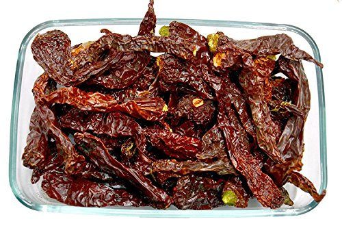 Whole Sun Dried KASHMIRI MIRCH Red Chillies Chili Peppers Spices 200g by Leeve Dry Fruits