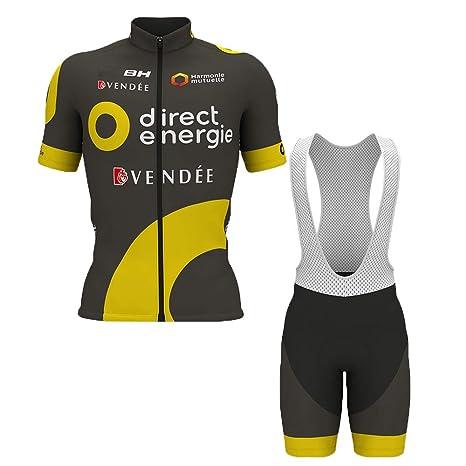 f924163a686e Wulibike Completo Ciclismo Uomo Abbigliamento Ciclismo Estivo Maglietta  Ciclismo Maniche Corte+Salopette Ciclismo Squadra Professionale