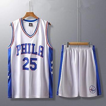 Traje YC-Tang 76ers baloncesto Uniforme Nº 25 Simmons Baloncesto ...