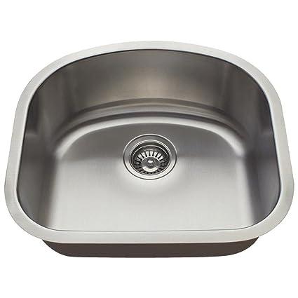2118 16 Gauge Undermount Single Bowl Stainless Steel Sink