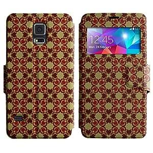 LEOCASE corazón lindo Funda Carcasa Cuero Tapa Case Para Samsung Galaxy S5 I9600 No.1004723