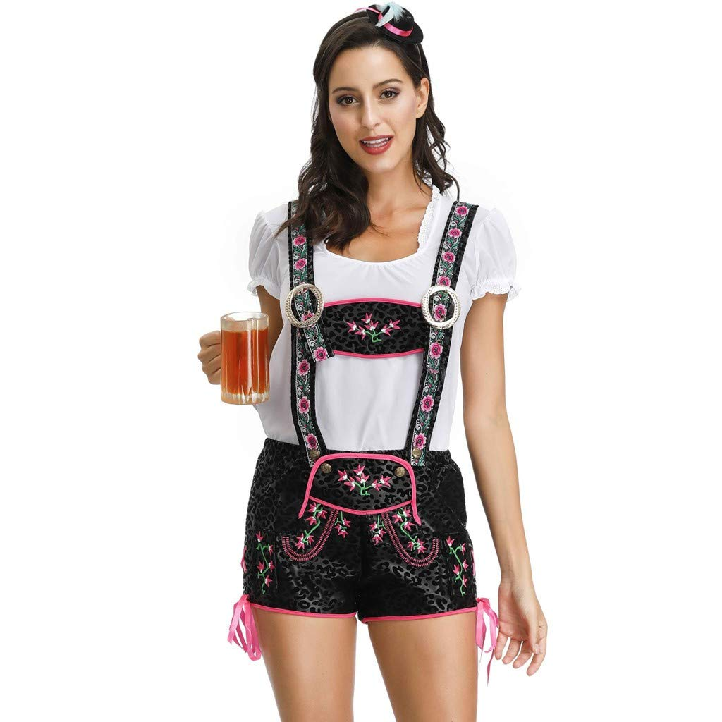Women's Beer Festival Suit Maidservant Dress Beer Festival Cosplay Costumes Clothes Daorokanduhp White