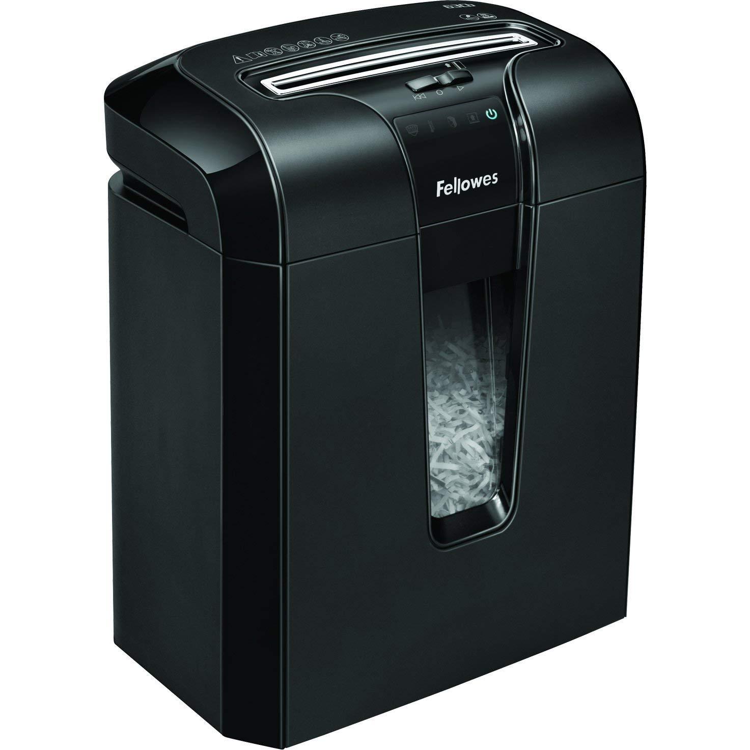 Fellowes 4600103 Distruggidocumenti Powershred 63Cb, a Frammenti, Nero Powershred63Cb