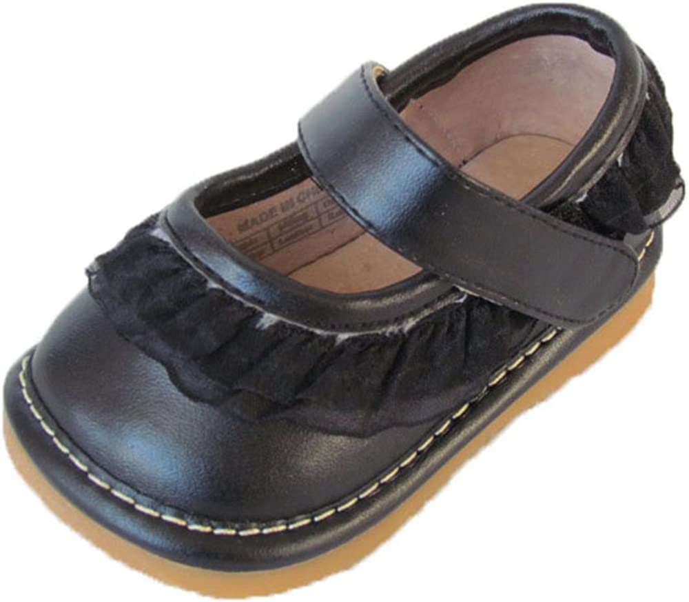 Squeaky Shoes Toddler Black Leather