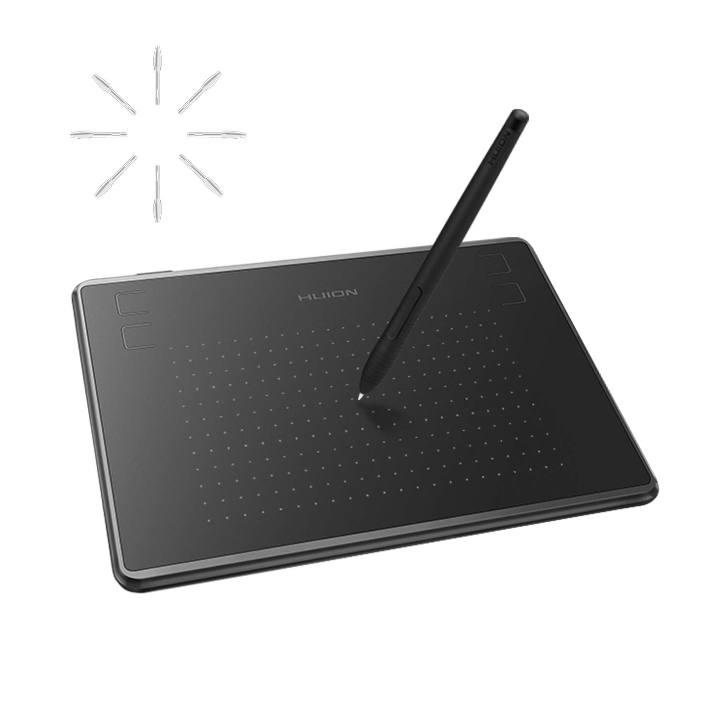 Huion Inspiroy H430P OSU Graphic Drawing Tablet Android Supported with Battery-Free Stylus and 4 Press Keys