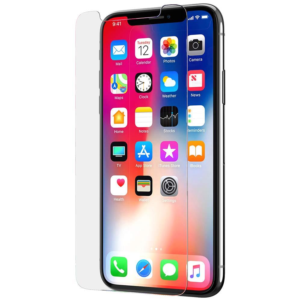 Tech21 Evo Glass iPhone X Screen Protector (Screen Protector, Apple, iPhone X, Scratch-Resistant, 1 Piece)