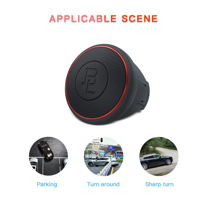 Volant Spinner Umisky Cuir Coque en silicone support auto rehausseur Compact Poign/ée dalimentation sans danger pour tous les v/éhicule de voiture