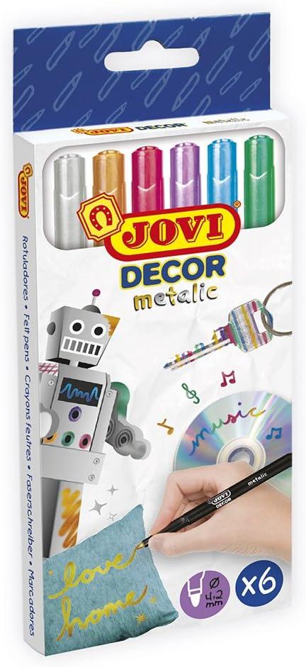 Jovi- Estuche 6 rotulador Metalizados, Multicolor, unica (1606M) , color/modelo surtido: Amazon.es: Juguetes y juegos