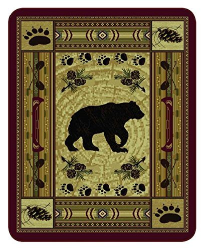 """""""Native Bear Patchwork"""" Officially Licensed Faux Fur™ Medi"""