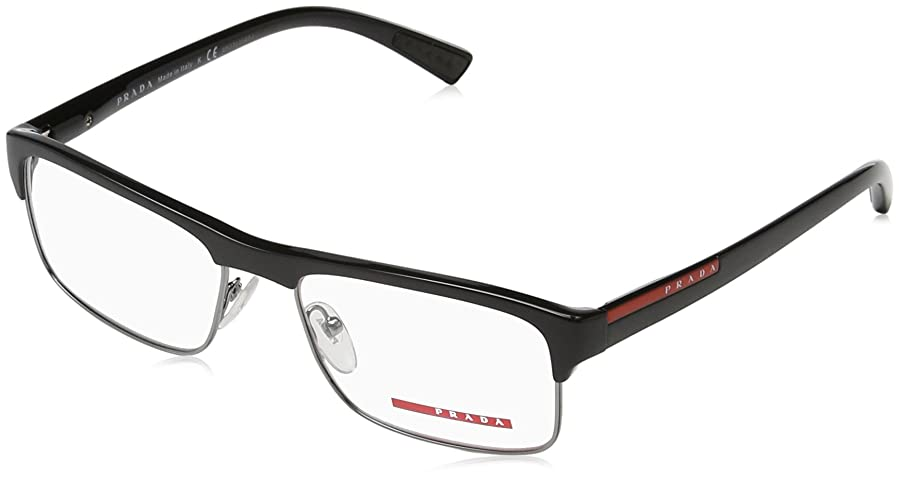Amazon.com: Prada PS06FV Eyeglass Frames 1AB1O1-54 - Black: Clothing