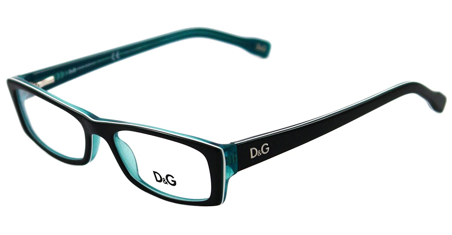 b79ee943dba8 D&G DD1212 Eyeglasses-1870 Black Turquoise/White Turquoise-50mm: Amazon.ca:  Health & Personal Care