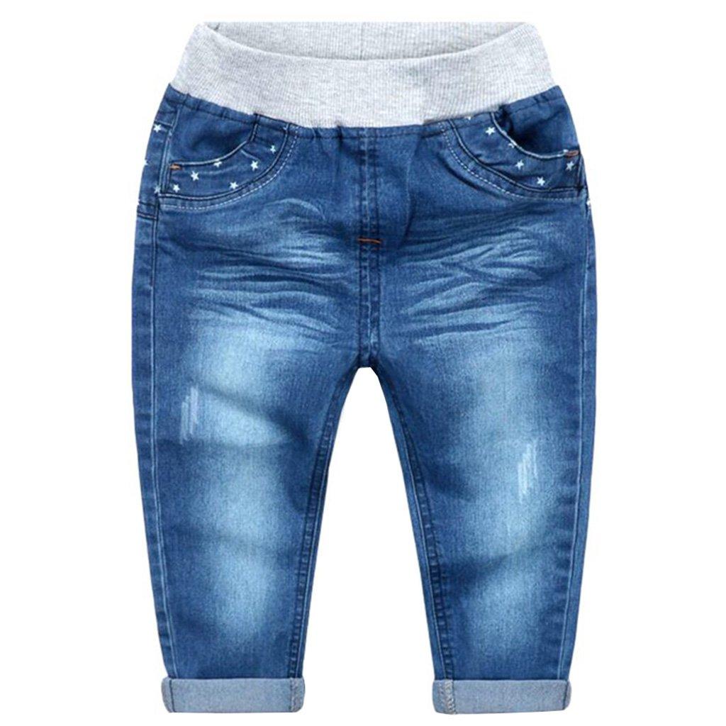 ASTRO Big Boys' summer Stars Pocketcotton casual pants(7-8T)