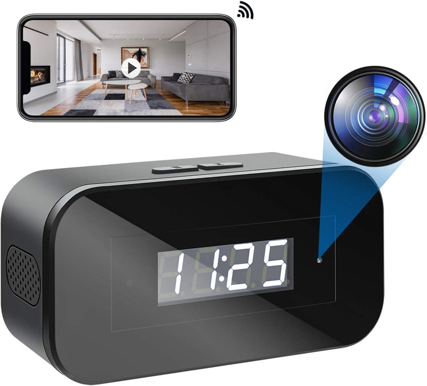 Cámara Espía WiFi, Mini Cámara Oculta HD 1080p Vigilancia Grabadora de Video Portátil con Visión Nocturna Detector de Movimiento, Micro Camera Inalámbrica de Seguridad para el Hogar Interior