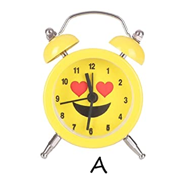 Sisit Emoji Emoticon Twin Bell Silent Alloy Stainless Metal Alarm