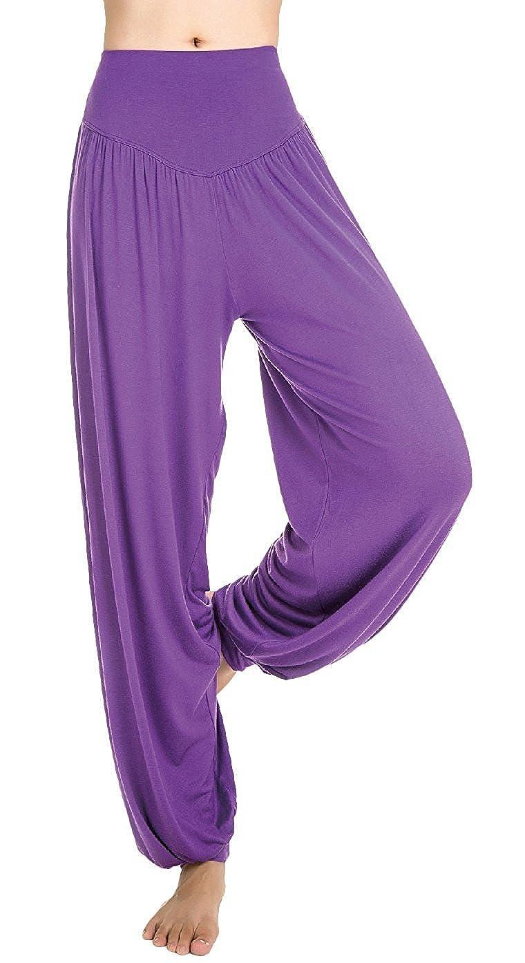 Cliont Super Soft Modal Spandex Harem Yoga Pilates Pants Fitness Workout Pants