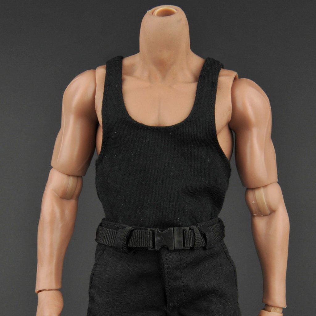 2x 1//6 Scale Vest Pants Belt Clothes for 12/'/' HOTTOYS SIDESHOW ENTERBAY Figure