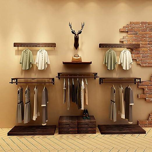YP Percheros Perchero Tienda de ropa de madera Estantes ...
