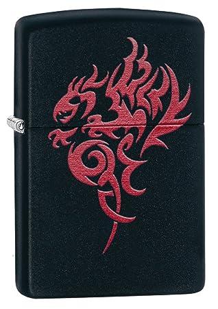 Zippo Hidden Dragon Lighter Black Matte - Mechero, color negro mate: Zippo: Amazon.es: Deportes y aire libre