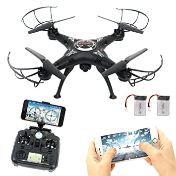 RC Drone With Wifi HD FPV Camera Remote Control Airplane Extra Battery Support Headless One