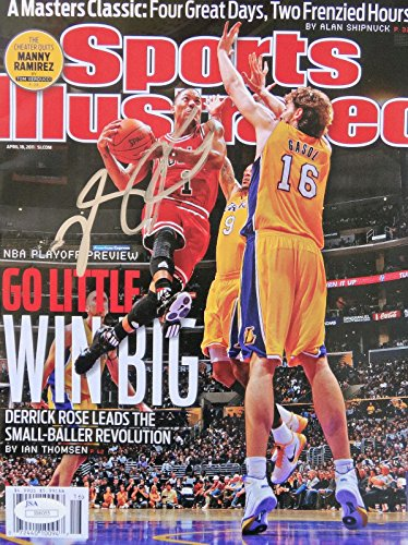 Derrick Rose Signed SI 4-18-2011 NL Sports Illustrated Magazine - JSA Certified - Autographed NBA Magazines