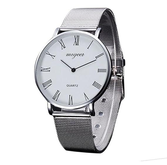 Reloj De Pulsera Metálica Plano con Estuche, Relojes De Pulsera para Mujer, Relojes De Pulsera Plano, Reloj Mujer Moda: Amazon.es: Relojes