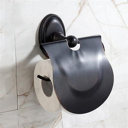 Amazon.com: RFVBNM Black Simple Retro Covered Paper Towel Rack ...