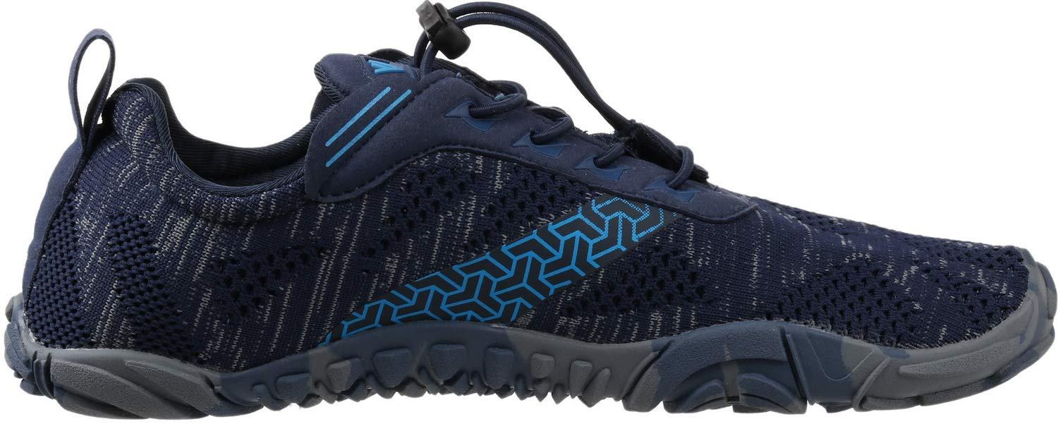 WHITIN Men's Cross-Trainer | Barefoot & Minimalist Shoe | Zero Drop | Wide Toe Box | Five Fingers | Gym Fitness Workout Trail Running | Male Blue | Size 8 by WHITIN (Image #5)