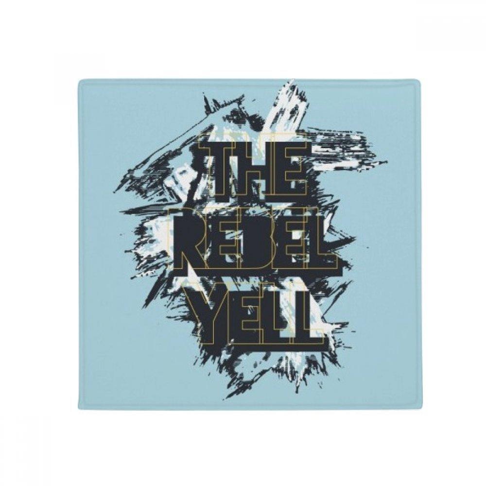 DIYthinker Graffiti Street The Rebel Yell Pattern Anti-Slip Floor Pet Mat Square Home Kitchen Door 80Cm Gift