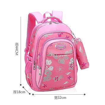 744c576b0 Niños Mochilas para niñas Bolso de la Escuela Primaria Niños Mochilas  Escolares Impresión Mochila Ortopédica Mochila Pink-Large: Amazon.es:  Equipaje