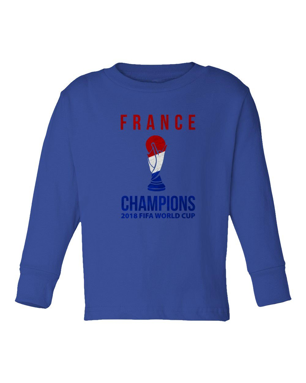 ab1f34d7cd7 Amazon.com: BTA Apparel New Soccer France World Champions Little Kids Girls  Boys Toddler Long Sleeve T-Shirt: Sports & Outdoors