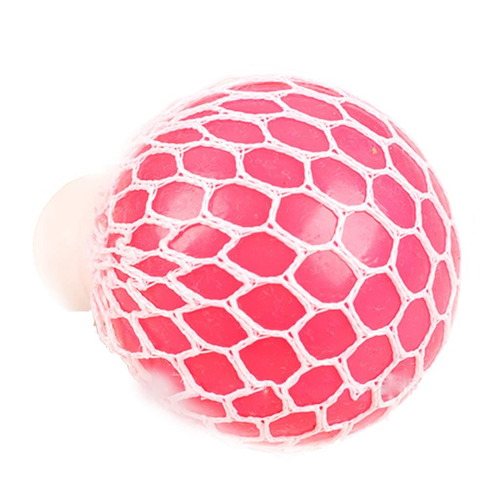 Newin Star 1 Stü ck 6 cm Mesh Ball Spielzeug Quetschball Anti-Stress-Bä lle fü r Kinder und Erwachsene, Zufä llige Farbe