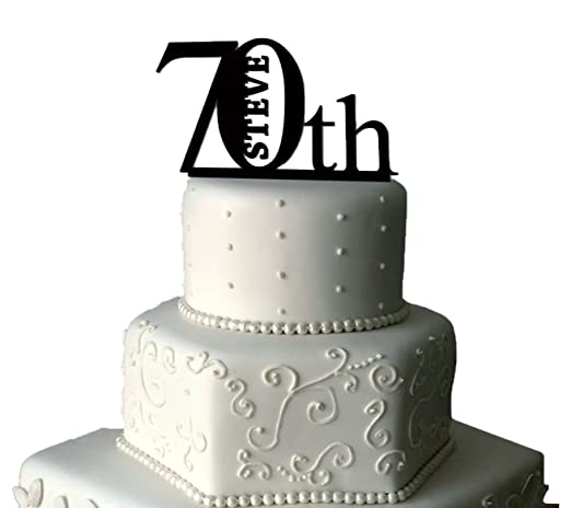 70 BIRTHDAY CAKE TOPPER