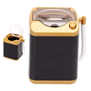 Electric Mini Washing Machine for Make up Brushes with Dehydration Function - Quick Cleaning & Quick Drying Washing Machine Children Toy Gift (Gold)