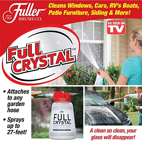 AS SEEN ON TV!! Full Crystal Window and All Purpose Cleaner sparkle BEST way to take care of your outdoor cleaning tasks!!
