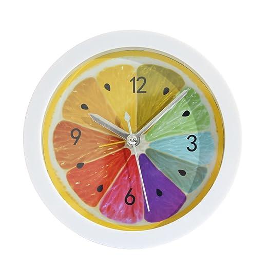 WINOMO Reloj de Alarma Analógico Redondo Diseño de Limón Reloj Que ...