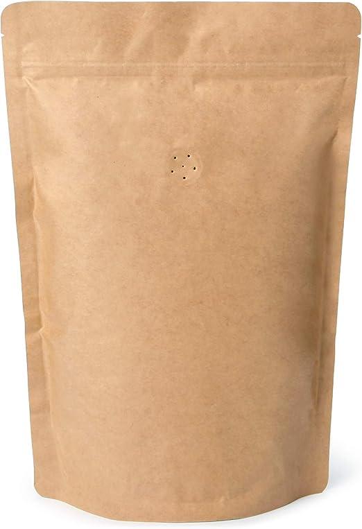 Amazon.com: 250 g/8oz Papel Kraft Stand Up Zipper Bolsas ...