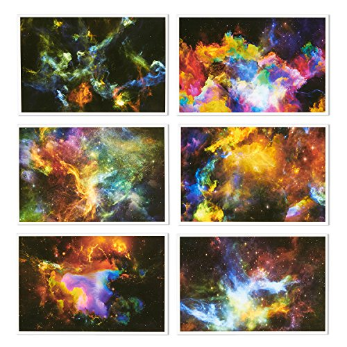 48 Pack All Occasion Assorted Blank Note Cards Greeting Cards Bulk Box Set - 6 Colorful Cosmic Designs - Blank on the Inside Notecards with Envelopes Included - 4 x 6 Inches Photo #6