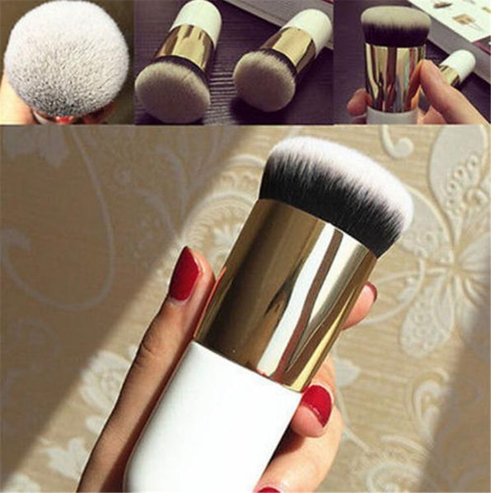 CoKate 1Pcs Pro Cosmetic Brush Foundation Powder Brush Blush Chunky Face Makeup Brushes Tool Gold