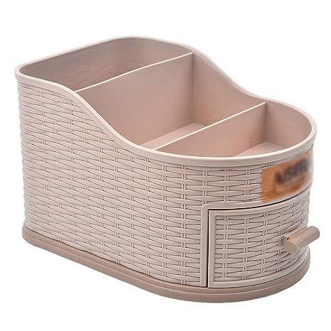 Cajón de plástico Tejido Multifuncional Caja de Almacenamiento Caja de Almacenamiento de Control Remoto 12.5X18
