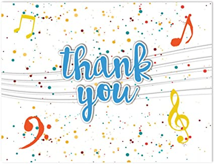 Image result for Thank you musical notes