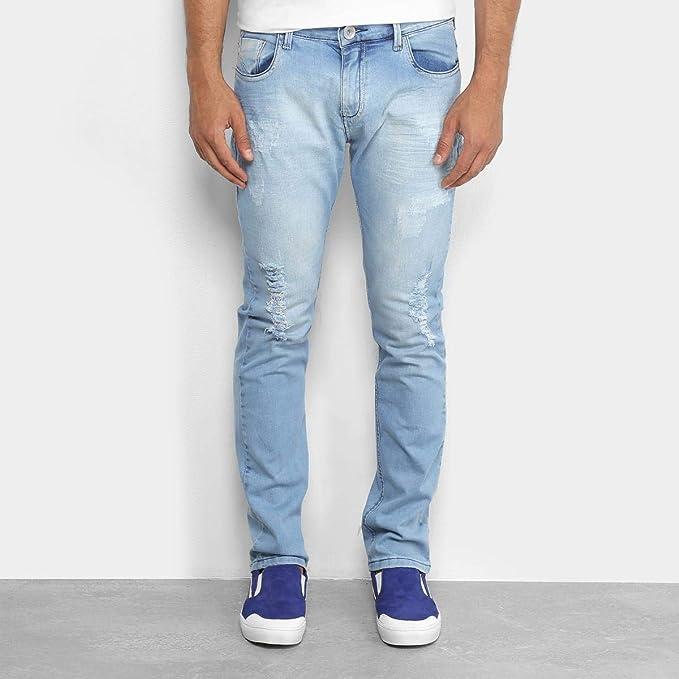 a286b20f6 Calça Jeans Skinny Preston Marmorizada Masculina: Amazon.com.br ...