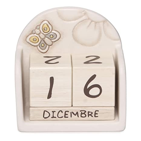 Thun Calendario.Thun Elegance Perpetual Table Calendar Ceramic Multi