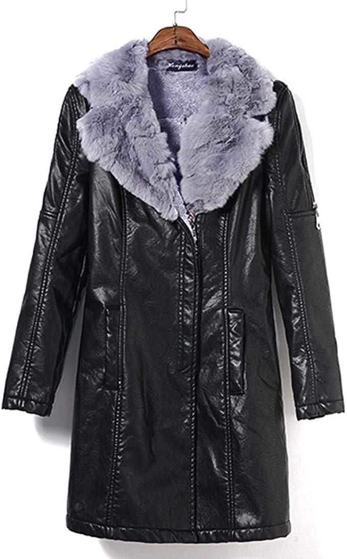 aliexpress the best detailed pictures Kinlene Women Fashion Plus Size Solid Long Sleeve Fur Neck Zipper ...