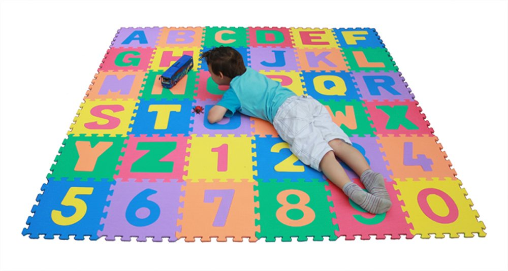 baby floor playmat itm foam room play kids toddler mats tile puzzle floring mat