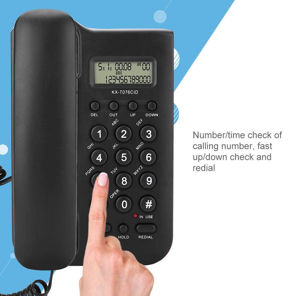 Wendry schnurgebundenes Telefon Home Hotel verkabeltes Desktop-Wandtelefon B/üro-Festnetztelefon Langlebig f/ür Lange Lebensdauer Schwarz