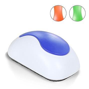 Amazy Borrador Magnetico / Borrador para una eficaz limpieza en seco de su pizarra magnética (Azul)