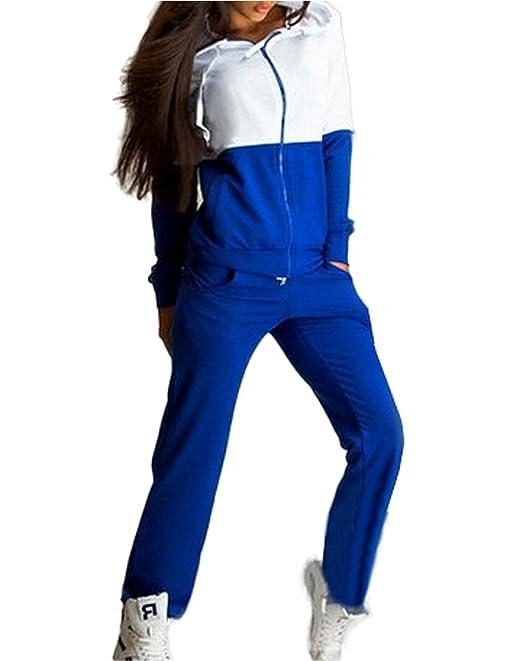 Mujer Otoño Lnvierno Hoodie Abrigos + Pantalones Deportiva Conjunto 2pcs Chándal Encapuchada Sudadera con Capucha Chaqueta Sweatshirt Casual Conjuntos ...