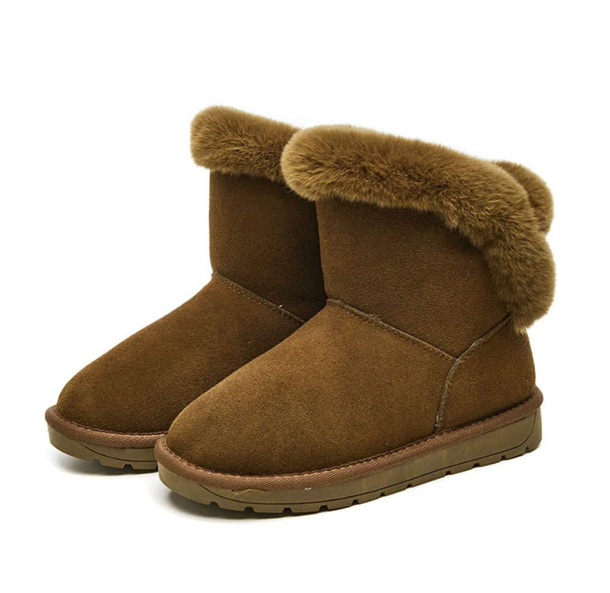 DANDANJIE Frauen Winter Schneeflocken Casual Warm Short Stiefel Non-Skid Ski Ankle Stiefel