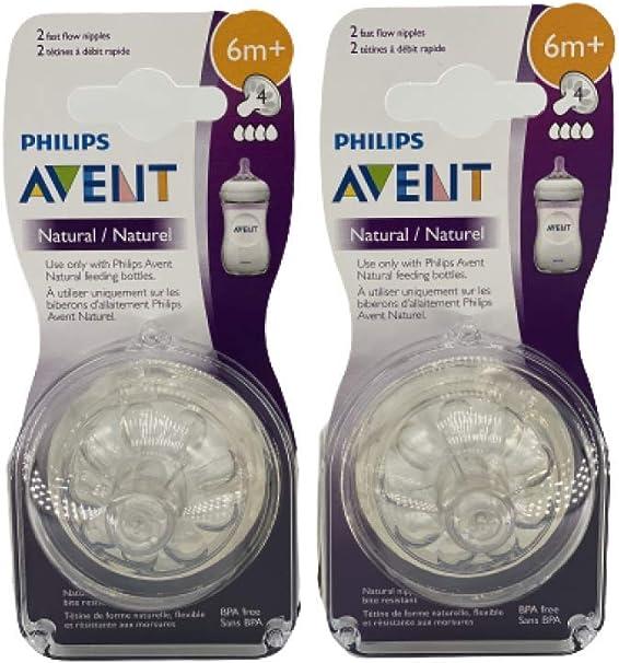 Philips Avent débit moyen 4 trous tétine 6 mois